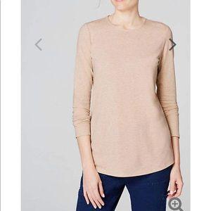 J. Jill Pima Stretch Cotton Shirttail Tee